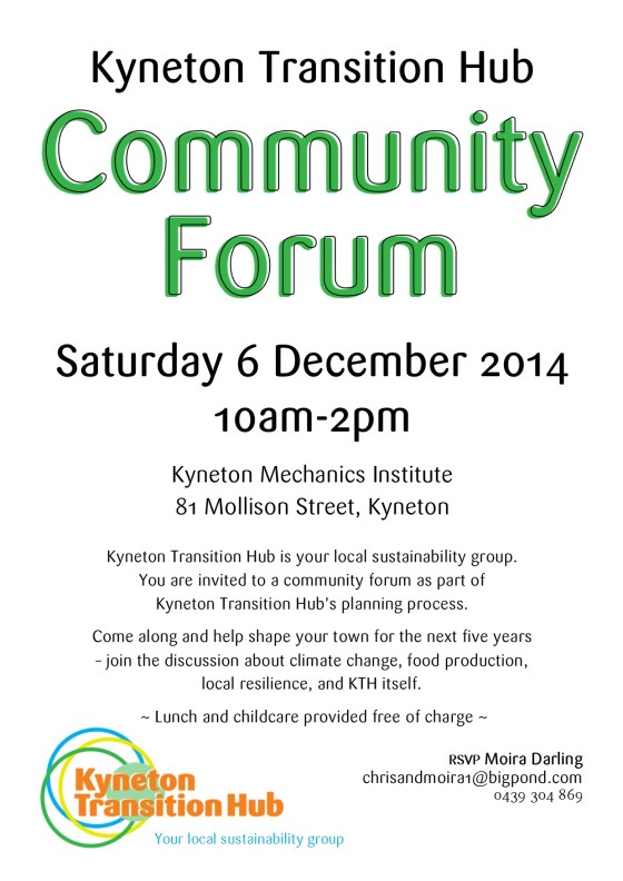 KTH Community Forum Poster - Dec 2014