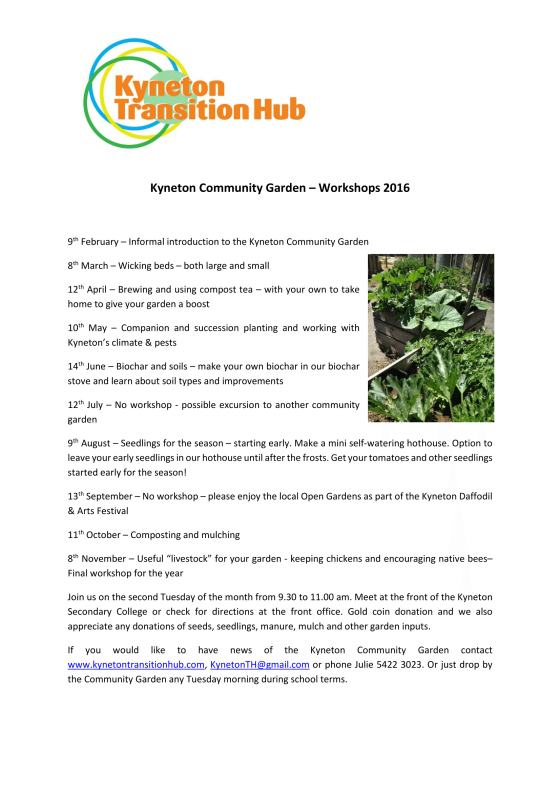 Kyneton Community Garden_Workshops_2016-1